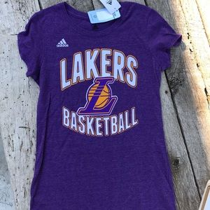 Adidas #1 Russell Lakers Basketball Ladies Tee Med